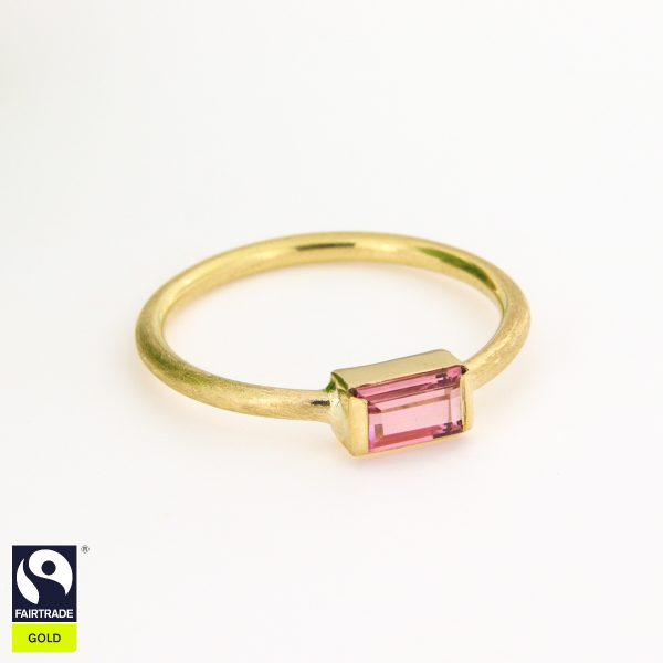 Turmalinring Fairtrade Gold