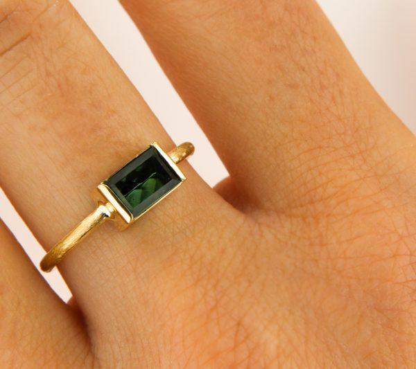 Fairtrade Ring Goldring Turmalin Ring