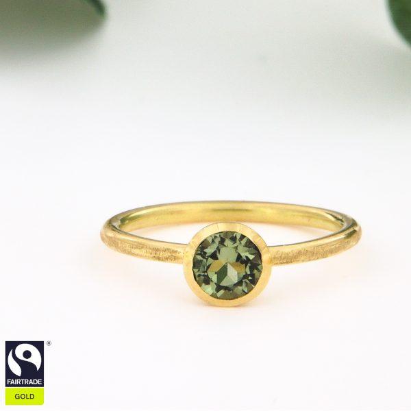 Turmalin Ring Fairtrade Goldring