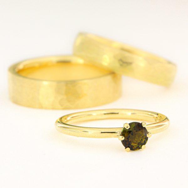 Verlobungsring Turmalin Goldring