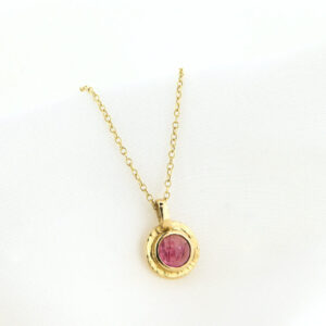 Goldanhänger mit rosafarbenem Turmalin