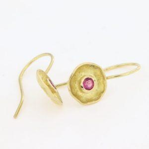 Ohrhänger mit rosafarbenen Turmalinen