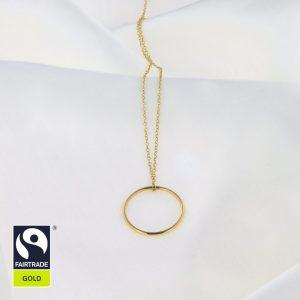 Goldanhänger Ring